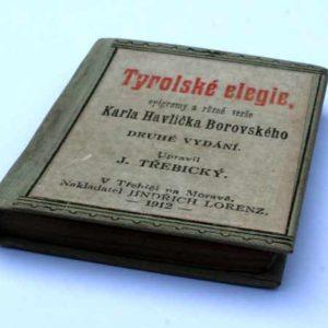 Miniaturní knížečka z roku 1912 -Tyrolské elegie