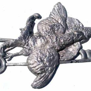 Myslivecká dekorace hliníkový odlitek