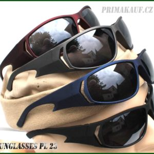 Sluneční brýle PL23.Tmavé levné sluneční brýle PL – 23.