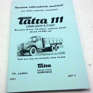 Tatra 111 Seznam náhradních součástí – obrazová část reprint.