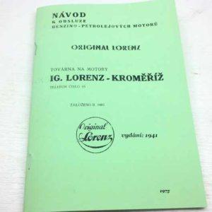 Lorenz – Návod k obsluze benzino petrolejových motorů – reprint.
