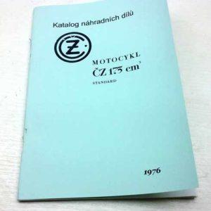 ČZ motocykl 175cm3 standart Katalog dílů reprint –