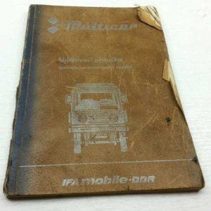 Multicar M25 – Udržovací příručka 7 vydání 1984