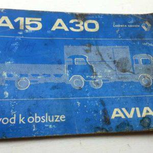 Avia A15, Avia A30 – Návod k obsluze