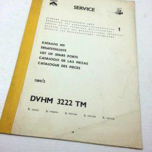 DVHM 3222 TM -Katag ND – doplněk katalogu -Hlášení změn 1189/2 1 vydání