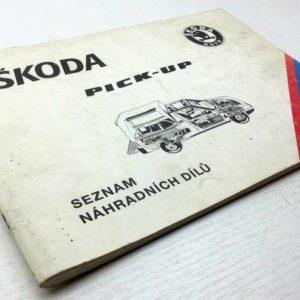 Škoda Pick-up – Seznam náhradních dílů – jen rozdíly. 1993