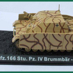 Tank Sd.Kfz.166 Stu.Pz.IV Brummbär – 1944. Plastový model 1:72.