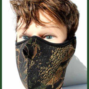 Obličejová maska ochrana – kryt tváře – Maskování podzimní les.