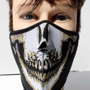 Obličejová maska ochrana – kryt tváře – kostlivec.