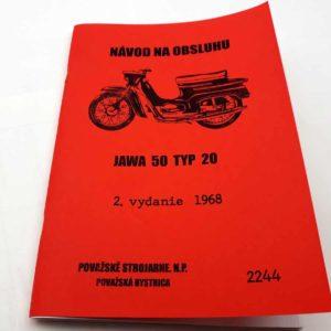 Jawa 50 typ 20 Návod k obsluze a údržbě 2vyd/1968 reprint