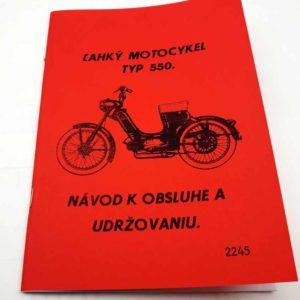 Jawa 50 typ 550 Návod k obsluze a udržovaniu. Reprint.