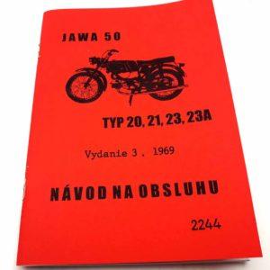 Jawa 50 typ 20, 21, 23, 23A Návod k obsluze a údržbě 3vyd/1969 reprint