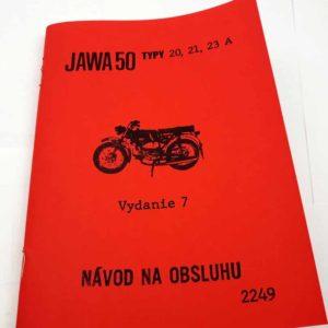 Jawa 50 typ 20, 21, 23, 23A Návod k obsluze a údržbě 7 vydání reprint