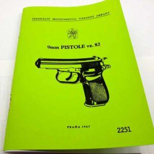 istole CZ vzor 82 – 9mm Návod k obsluze -reprint.