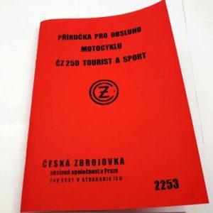 ČZ 250 Tourist a Sport – Příručka pro obsluhu reprint.