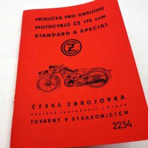ČZ 175 Standard a Special – Příručka pro obsluhu reprint.