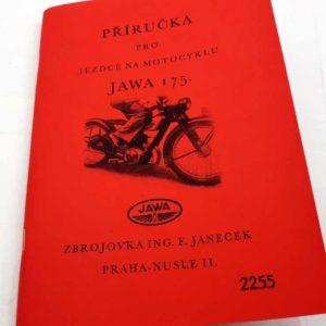 Jawa 175 -Příručka pro jezdce na motocyklu reprint.