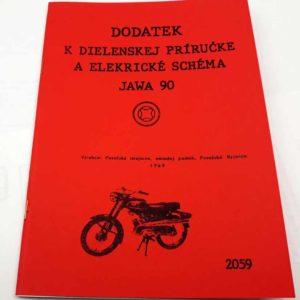 Jawa 90 – Dodatek k dílenské příručce a schema el. Zapojení – reprint