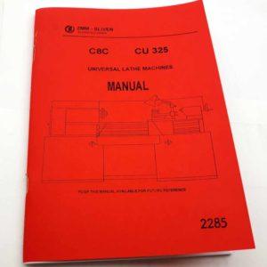 Soustruh ZMM-SLIVEN C8C, CU325 Manual v angličtině reprint.