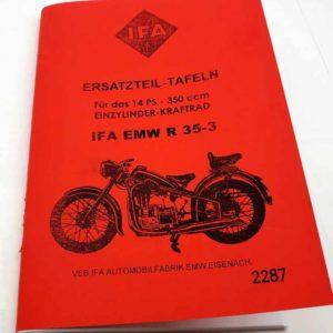 EMW R35-3 – Katalog náhr.dílů v němčině reprint.