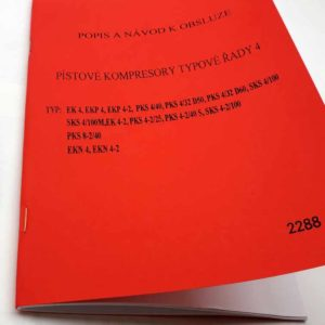 Kompresor Orlík – Popis a návod k obsluze – Pístové kompresory typové řady 4 reprint.