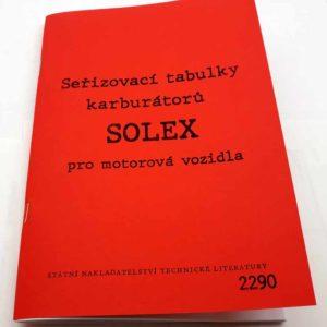 Seřizovací tabulky karburátorů SOLEX reprint,