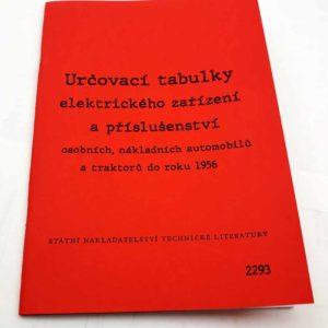 Určovací tabulky elektrického zařízení a příslušenství reprint