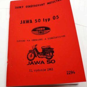 Jawa 50 typ 05 Návod k obsluze reprint
