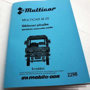Multicar M25- Udržovací příručka reprint