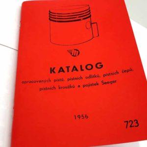Katalog opracovaných pístů, pístních odlitků, pístních čepů, pístních kroužků a pojistek Seeger reprint.