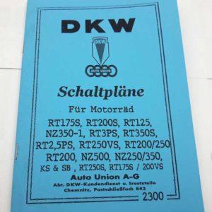 DKW elektrická schemata motocyklů reprint.