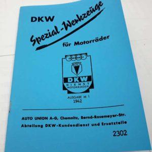 DKW Spezial-Werkzeuge für Motorräder reprint.