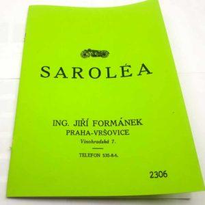 Sarolea Technické údaje, ceník v češtině – Reprint