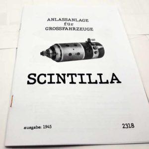 Scintilla Anlassanlage für Grossfahrzeuge – německy reprint