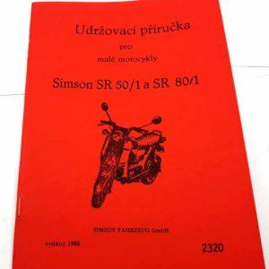 Simson SR50/1 a SR 80/1 Udržovací příručka reprint.