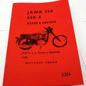Jawa 350 – 638-5 Návod k obsluze reprint.
