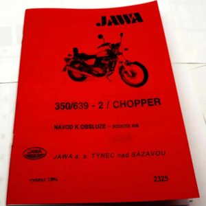 Jawa 350 – 639-2 Chopper Dodatek návoda k obsluze 638 reprint.