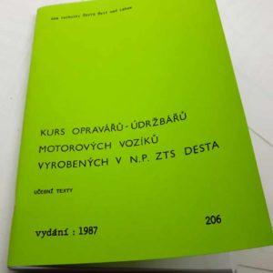 Kurz Opravářů- údržbářů motorových vozíků vyrobených v n.p. ZTS Desta – učební texty reprint