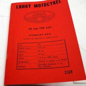 Jawa 50 typ 550 – Návod na obsluhu a udržovanie – reprint